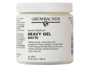Acrylic Heavy Matte Gel, 8 oz
