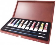 10 Academy Oils, Wood Box Set