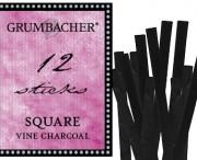 Square Vine Charcoal,12 pk