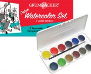 12 Transparent Watercolor Pans, LE Set