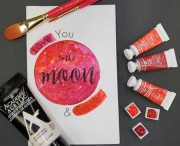 Downloadable template to make a simple valentine card.